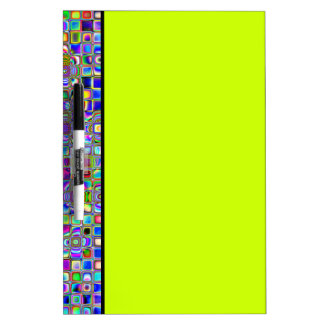 Psychedelic Rainbow Textured Mosaic Tiles Pattern Dry Erase White Board