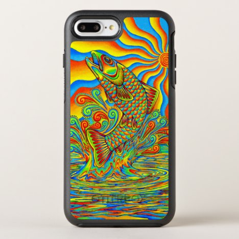 Psychedelic Rainbow Trout Fish Otterbox Case