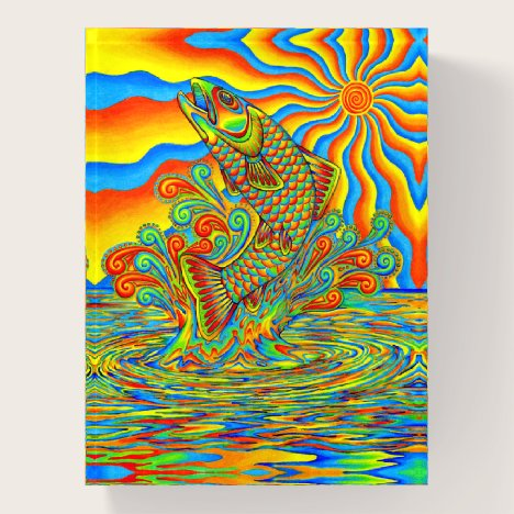 Psychedelic Rainbow Trout Fish Paperweight