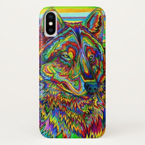 Psychedelic Rainbow Wolf CaseMate Cell Phone Case