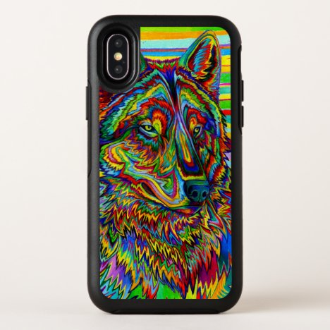 Psychedelic Rainbow Wolf Colorful Otterbox Case