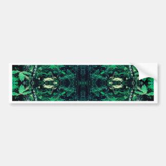 Psychedelic Rainforest Car Bumper Sticker