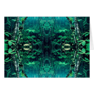 Psychedelic Rainforest Card