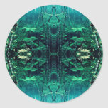 Psychedelic Rainforest Classic Round Sticker
