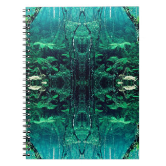 Psychedelic Rainforest Spiral Note Book