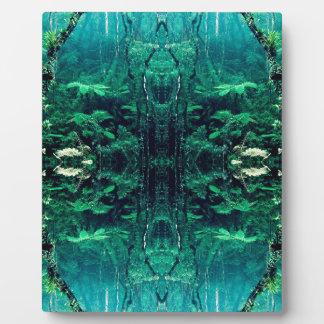 Psychedelic Rainforest Display Plaque
