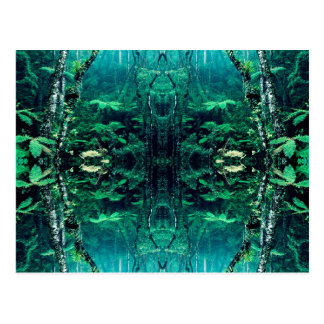 Psychedelic Rainforest Postcard