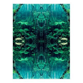 Psychedelic Rainforest Postcard