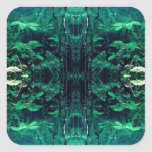 Psychedelic Rainforest Square Sticker