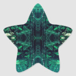 Psychedelic Rainforest Star Sticker