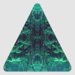 Psychedelic Rainforest Triangle Sticker