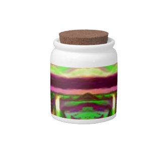 Psychedelic Rave Print Candy Jar