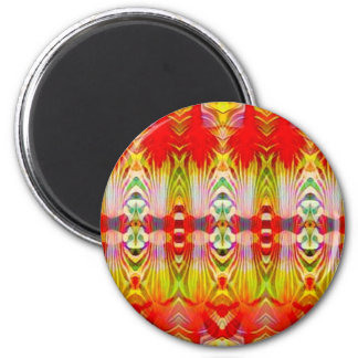 Psychedelic Red Yellow Magnet