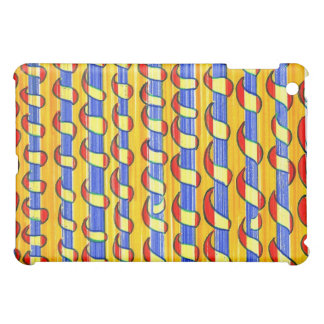 Psychedelic red yellow Swirls iPad Mini Cover