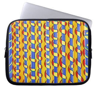 Psychedelic red yellow  Swirls Laptop Sleeve
