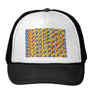Psychedelic red yellow Swirls Trucker Hat