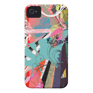 Psychedelic Retro Chic iPhone 4 Case-Mate Case