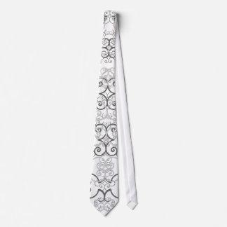 Psychedelic Retro Gray tie