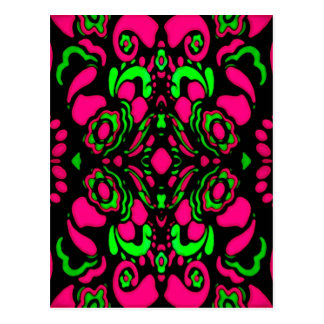Psychedelic Retro Ornament Postcard
