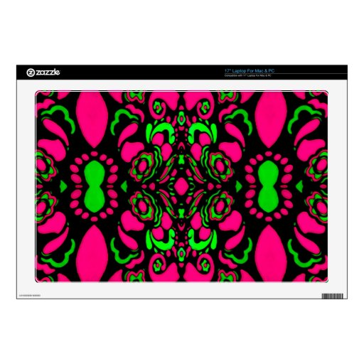 Psychedelic Retro Ornament Laptop Skins
