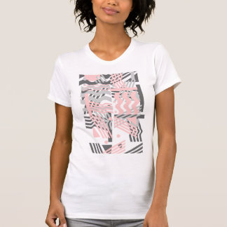 Psychedelic  Retro Pink and Gray T-Shirt