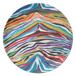 Psychedelic  Retro Dinner Plate