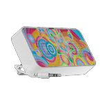 Psychedelic Retro Star Power Doodle Speaker