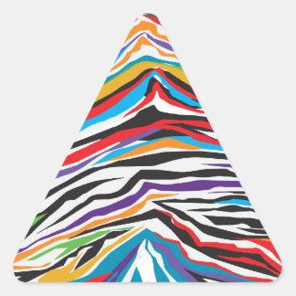 Psychedelic  Retro Triangle Sticker