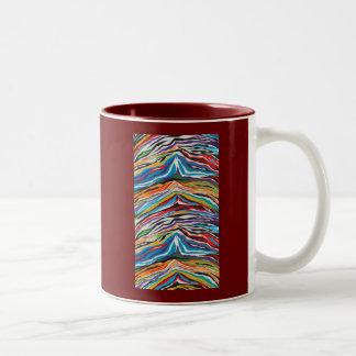 Psychedelic Retro Two-Tone Coffee Mug
