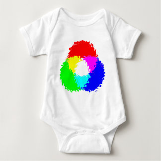 Psychedelic RGB Color Model Baby Bodysuit