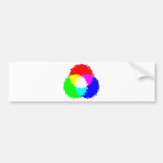 Psychedelic RGB Color Model Car Bumper Sticker