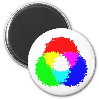 Psychedelic RGB Color Model Magnet