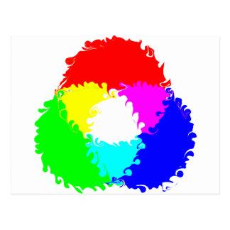 Psychedelic RGB Color Model Postcard