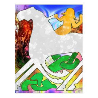 Psychedelic Rhiannon Postcard