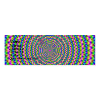Psychedelic Rings Card Business Card