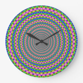 Psychedelic Rings Clock