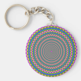 Psychedelic Rings Keychain