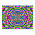 Psychedelic Rings Postcard