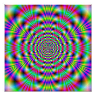 Psychedelic Rings The Zazzle Perfect Poster