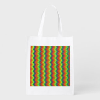 Psychedelic Ripples Reusable Grocery Bag