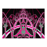 Psychedelic Rollercoaster Tunnel Fractal Invitations