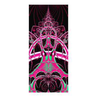 Psychedelic Rollercoaster Tunnel Fractal Custom Rack Cards