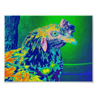 """""""Psychedelic Rooster"""" Poster"""