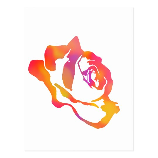 Psychedelic Rose Postcard