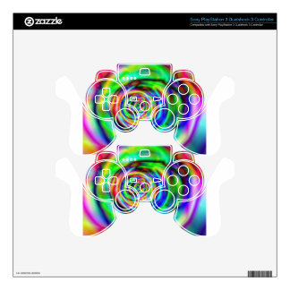 psychedelic rose PS3 controller skin