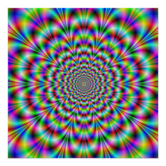 Psychedelic Rosette Poster