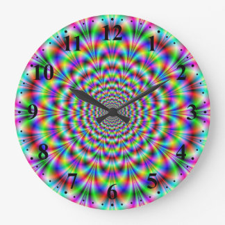Psychedelic Rosette Wall Clock