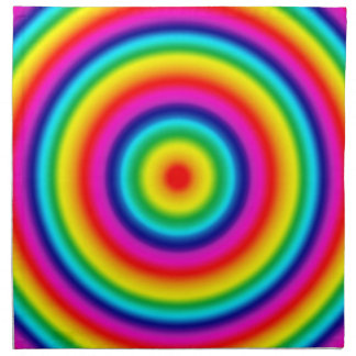 Psychedelic Round Circles Rainbow Pattern Napkin