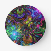 Psychedelic Round Clocks
