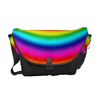 Psychedelic Round Rainbow Pattern Bag Courier Bags